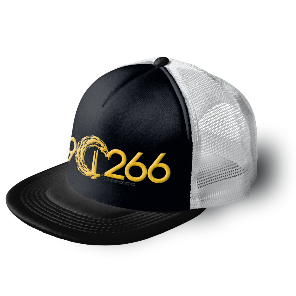 902662 trucker cap | black white and yellow