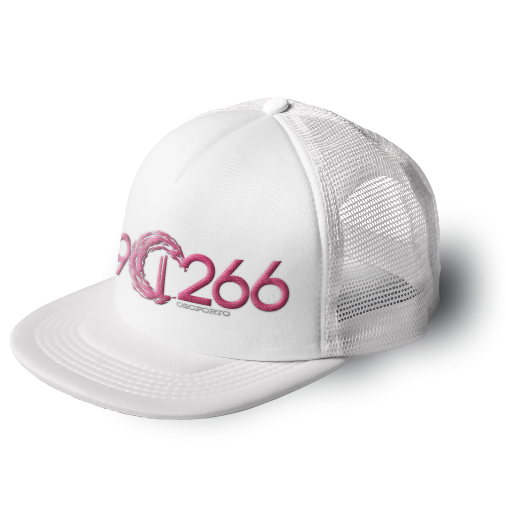 902662 trucker cap | white and pink