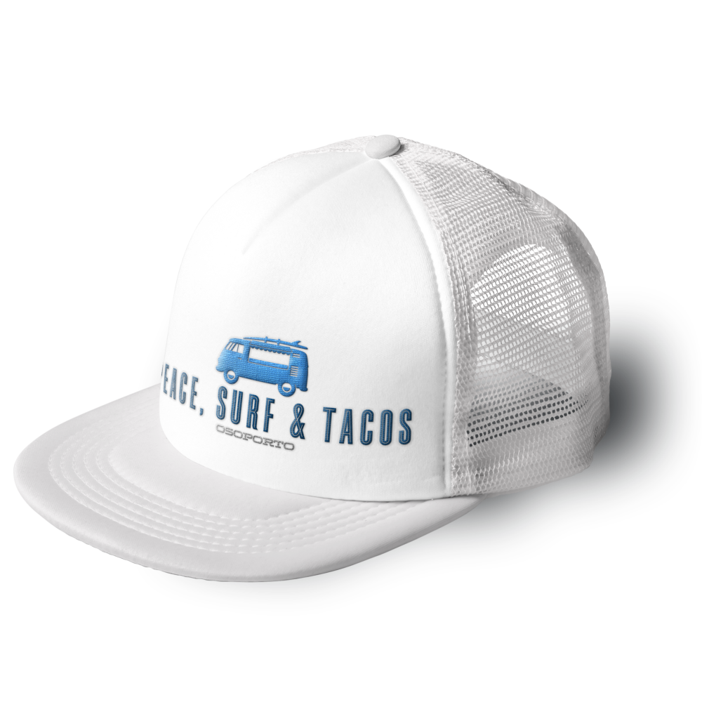Peace Surf   Tacos Trucker Hat from OsoPorto 1c90f2939d06