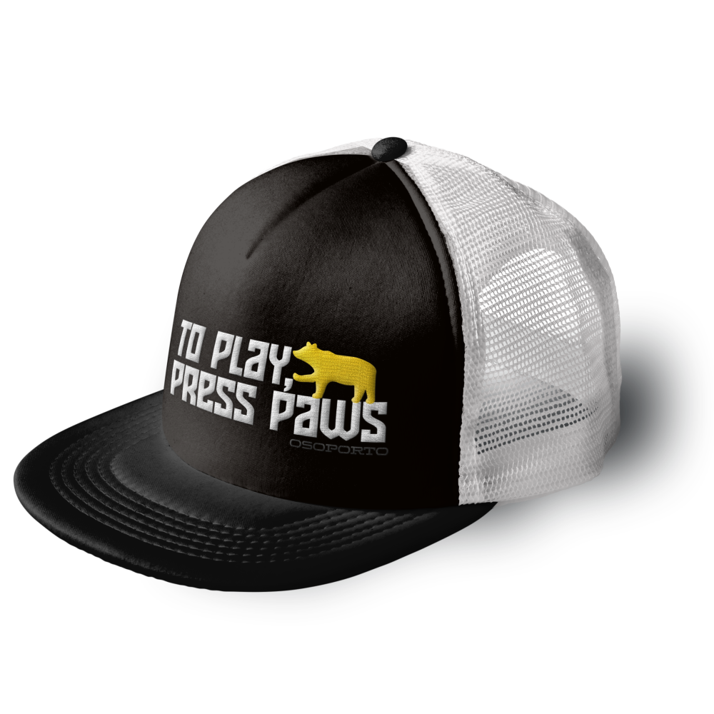 To Play Press Paws Trucker Hat