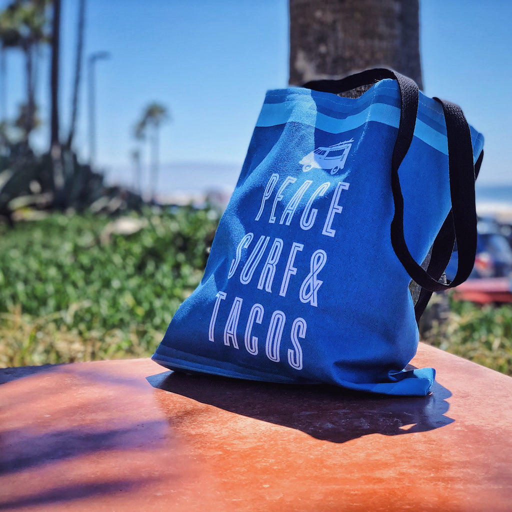 Peace Surf & Tacos Tote Bag