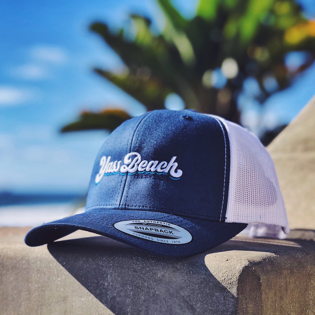 Yass Beach Retro Trucker Hat
