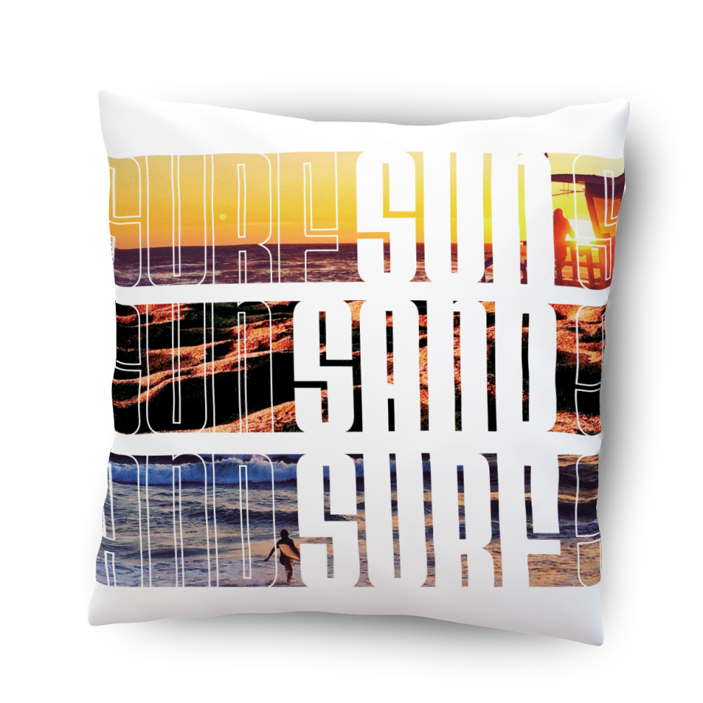 Sun Sand Surf pillow