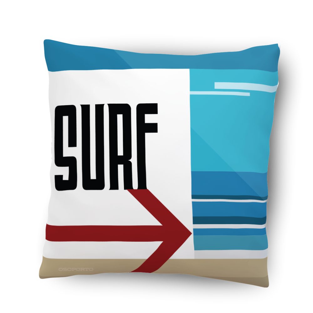 Beach life surf home decor California beach sign pillow