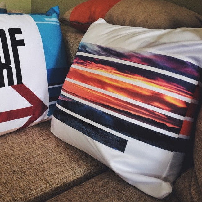 beach life home decor pillows Swim Surf Sunset