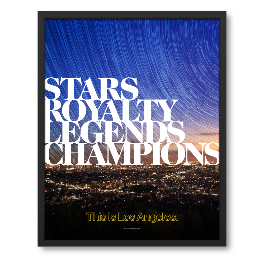 poster for Los Angeles sports teams championships