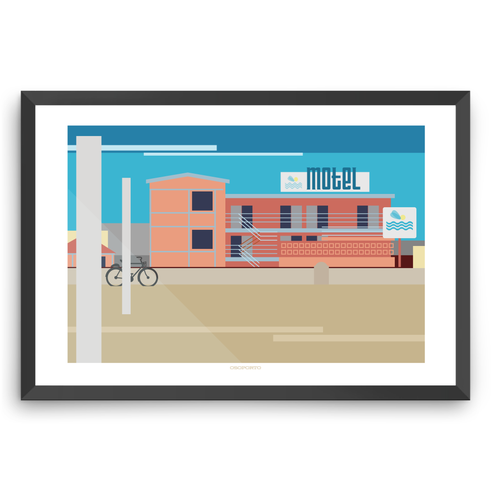 Hermosa Beach Sea Sprite Motel modern minimal art print