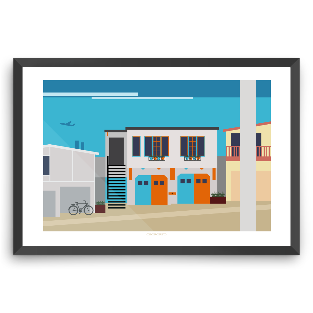 modern minimal art print California beach house El Porto