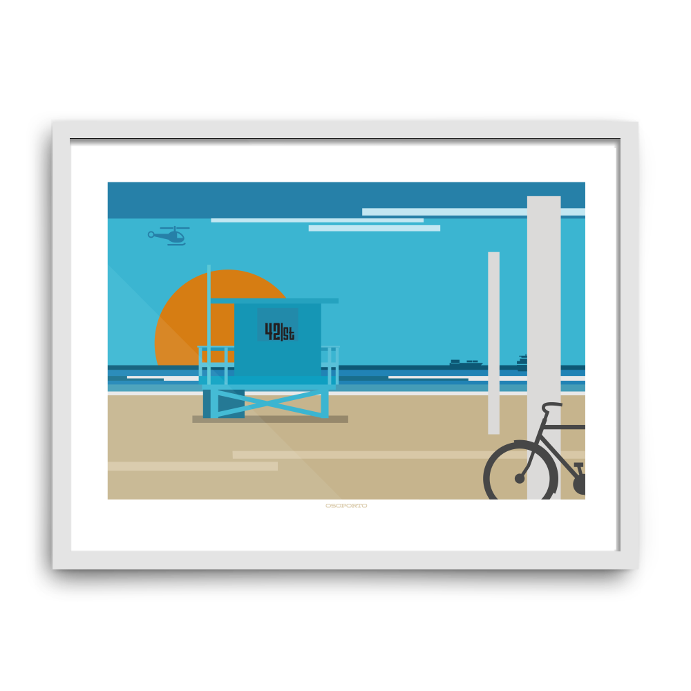 Manhattan Beach: 42nd Street Graphic Print