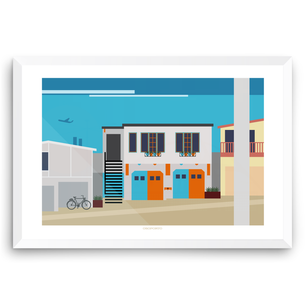 Manhattan Beach house California modern minimal art print