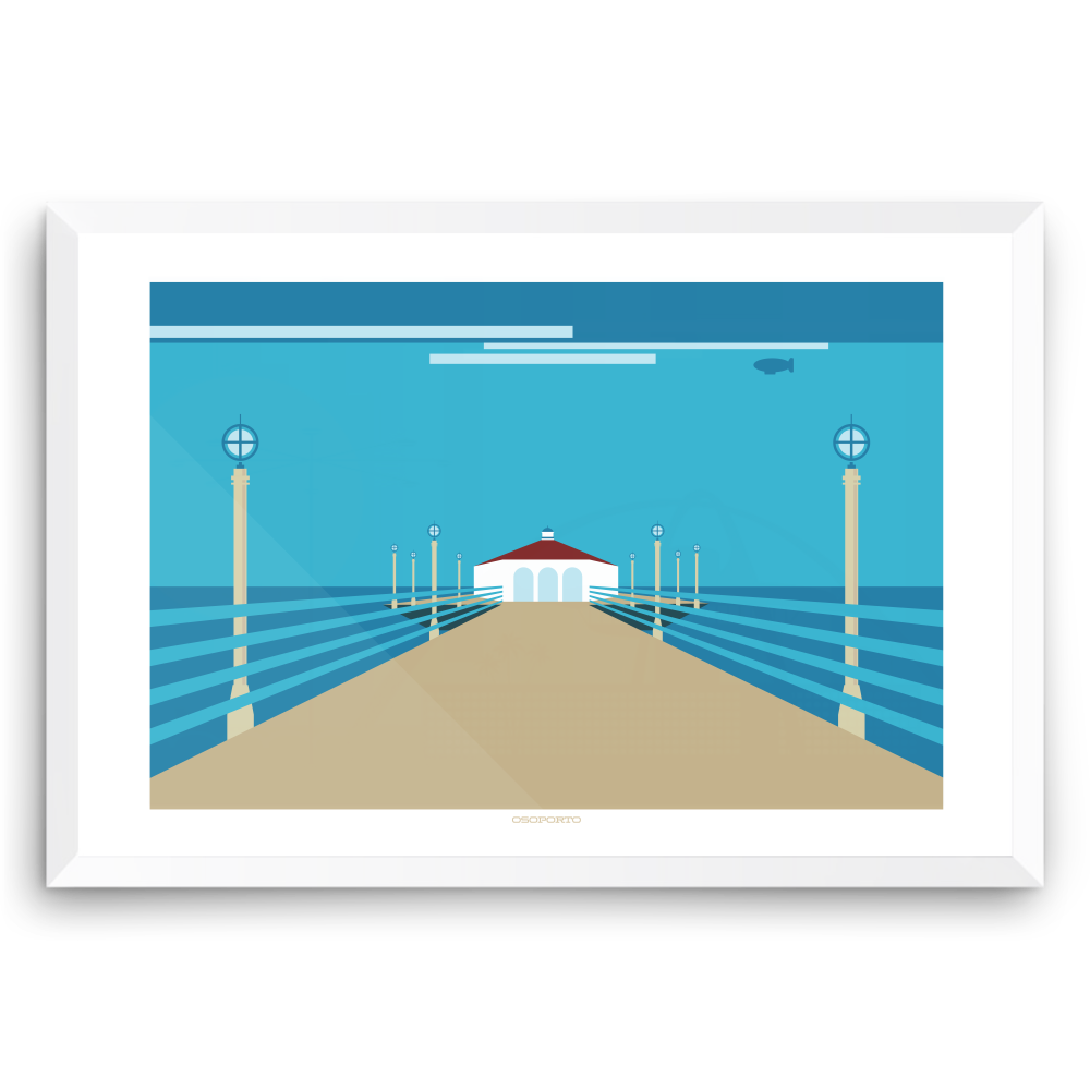 Manhattan Beach Pier: Roundhouse Graphic Print