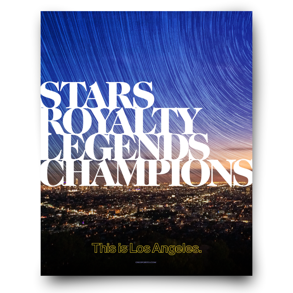 City of Champions poster for LA Galaxy, Kings, and more