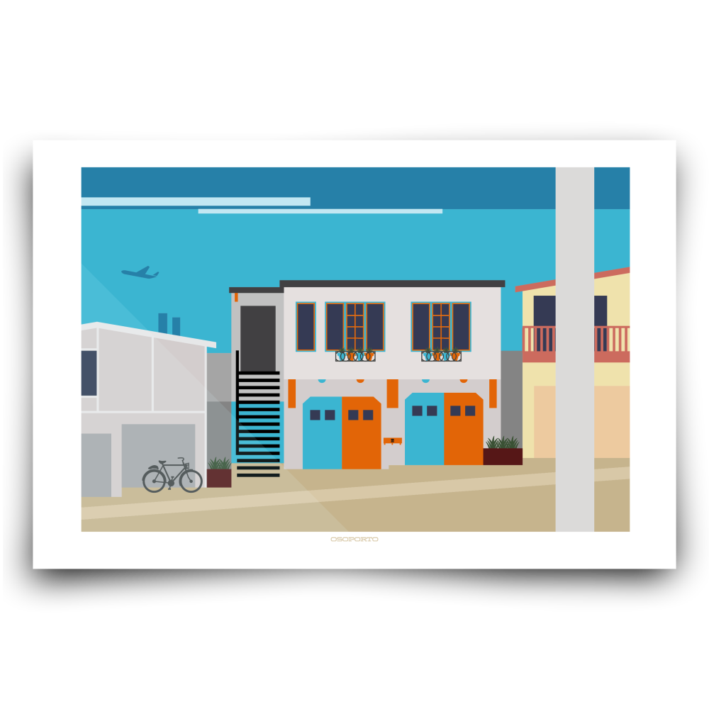 California beach house modern minimal architecture art print