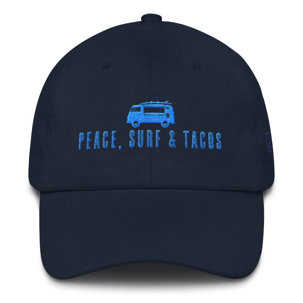 Peace Surf   Tacos Dad Hat from OsoPorto 5265ad70b96e