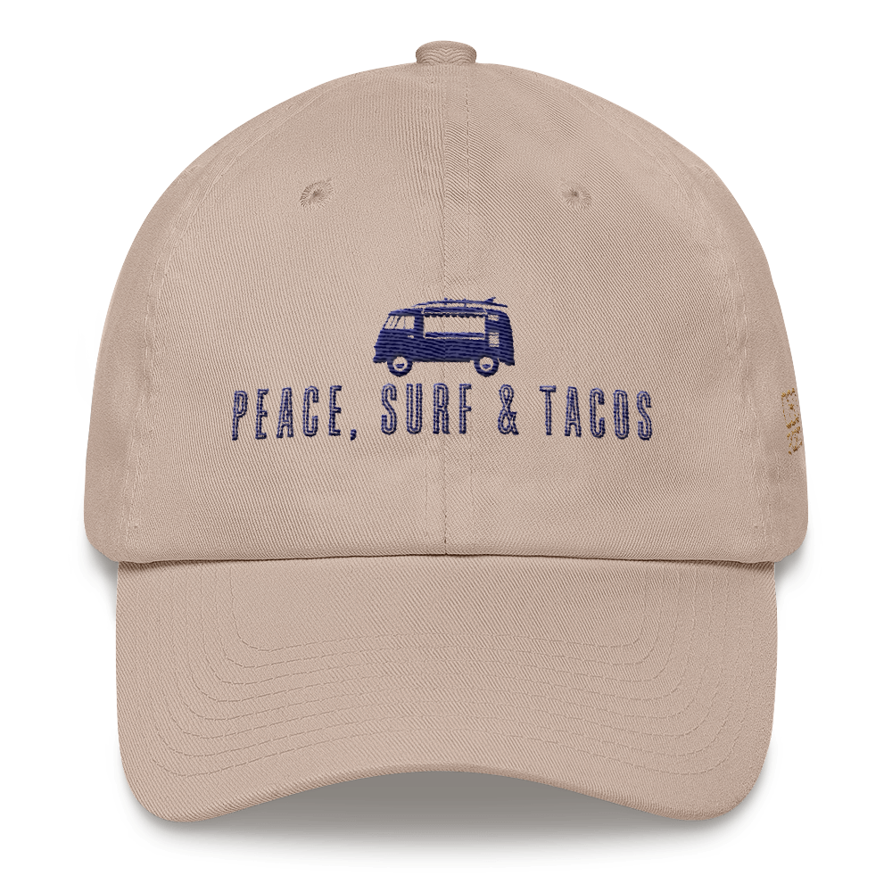 Peace Surf   Tacos Dad Hat from OsoPorto 3b6ca177c5f0