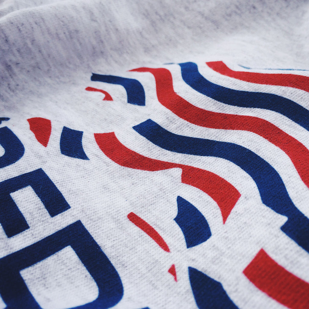 patriotic flag stripes in bear shape on 'Berica t-shirt