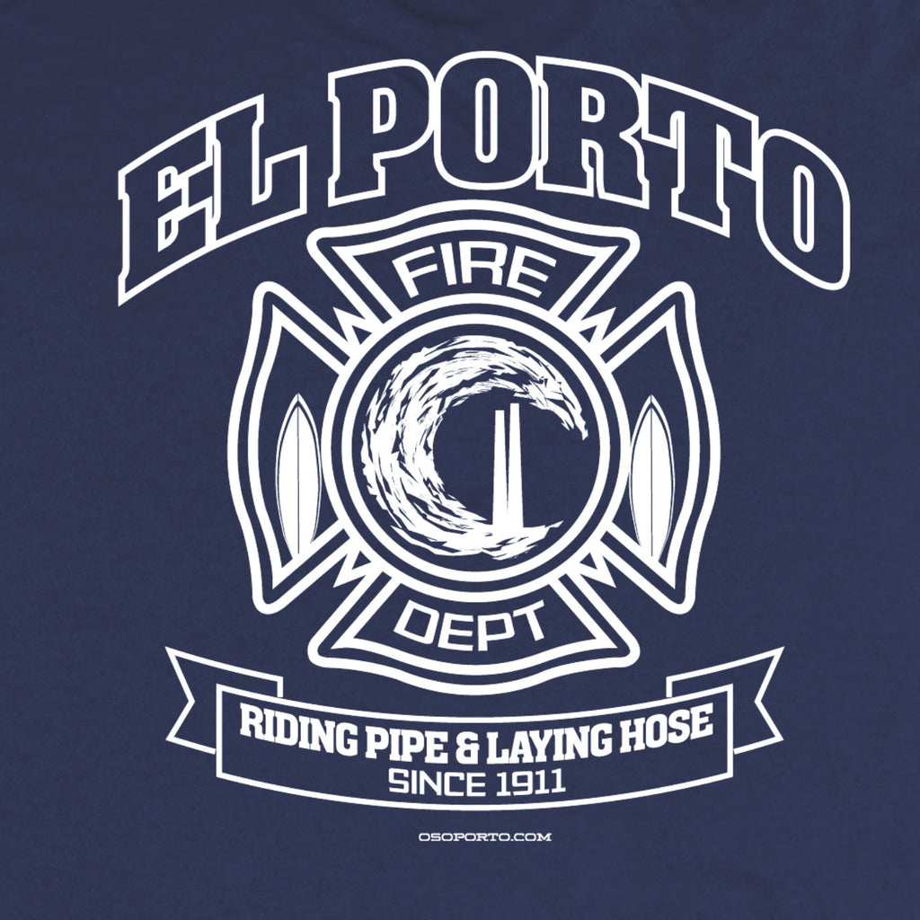 El Porto California Surf Neighborhood Fire Dept Shirt