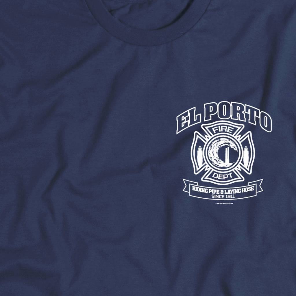 Beach town El Porto California Fire Department t-shirt