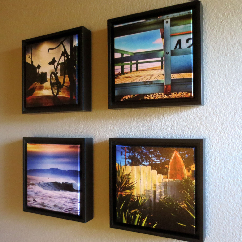 beach style home decor framed photography canvas prints grouping
