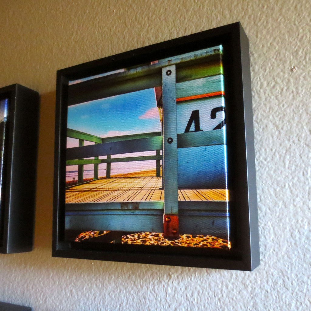 home decor framed beach print, lifeguard tower: Level 42
