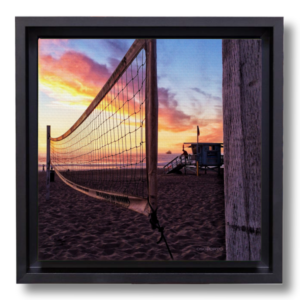 Beach decor photography canvas print: Net Gain