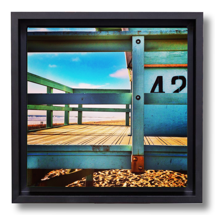Beach decor photography canvas print: Level 42