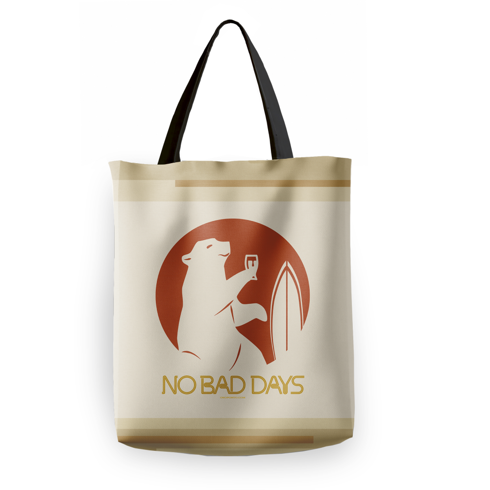 No Bad Days Bear Tote Bag