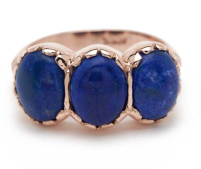 Signature Three Stone Ring - Lapis