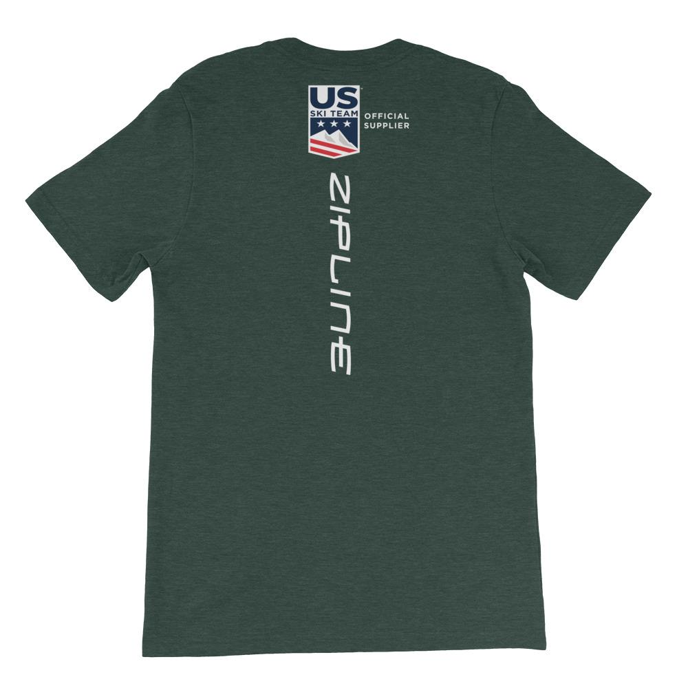 Short-Sleeve Unisex T-Shirt - Dark Colors ZiplineSki