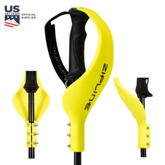 Ski Pole Hand Guard ZiplineSki Screaming Yellow