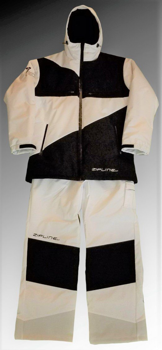 Zipline Podium Jacket + Pants Zipline Clothing Bleeding Heart Apparel XXS NonInsulated White