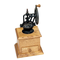 "Cast Bronze Antique Style Coffee Grinder- 3"" x 4"" x 6"" with a Ceramic Grinder."