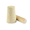 "Tapered Cork Bottle Stoppers with 3/8 x 1 3/4"" Birch Dowels."