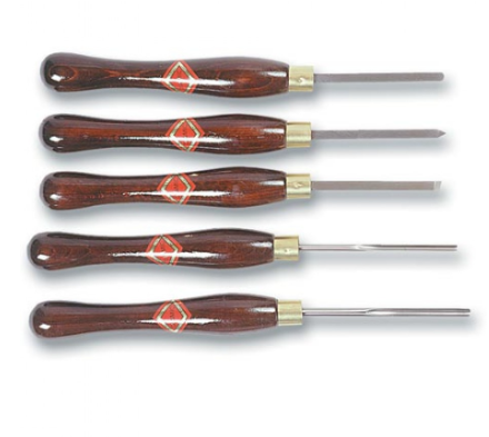 Hamlet- Walletted 5 piece HSS Small turning Tool Set.