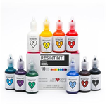 ARTRESIN-10 COLOUR TINTS -ORIGINALS-Brown	Red,Orange,Yellow	Green,Turquoise,Blue,Purple	Black	,White -25 ml / 0.85 fl oz EACH