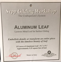 Aluminum Leaf - Book of 25 Leaves