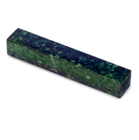 Acrylic Acetate Pen Blank-green and black pearl