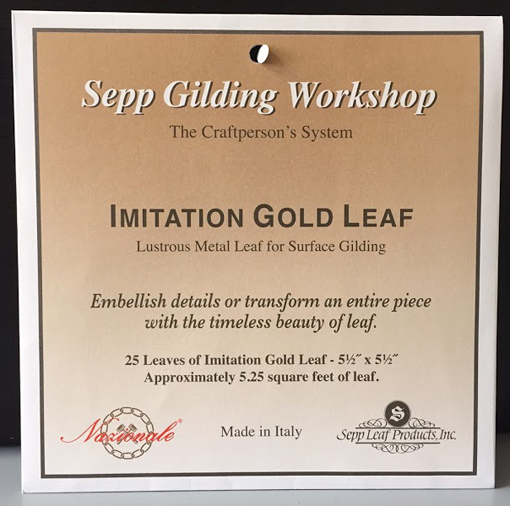 Imitation Gold Leaf - Book of 25 Leaves