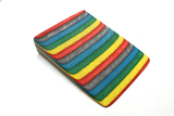 "1 1/2"" X 1 1/2"" X 3"" Coloured wood -yellow, red, black, Blue green"