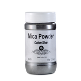 Mica Powder-Custom Silver 3.5 oz Jar