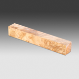 "Stabilized  Pen Blank - Box Elder Burl  3/4""x3/4""x6"""