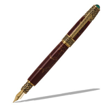 Celtic Fountain Pen - Antique Brass
