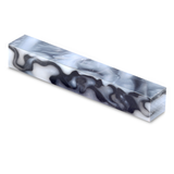 Acrylic Acetate-Swirly Black and Mother of Pearl Pen Blank