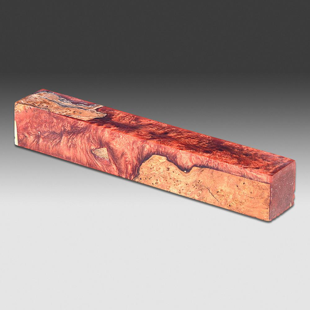 "Stabilized wood with Alumilite Pen Blanks 7/8"" x 7/8"" x 5 1/2"""
