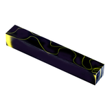 Acrylic Acetate Pen Blank-Black and Thin Yellow Line