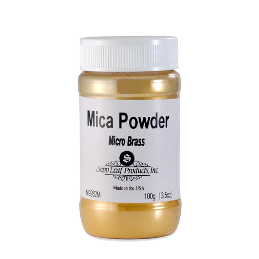 MicaPowder-Micro Brass 3.5 oz Jar