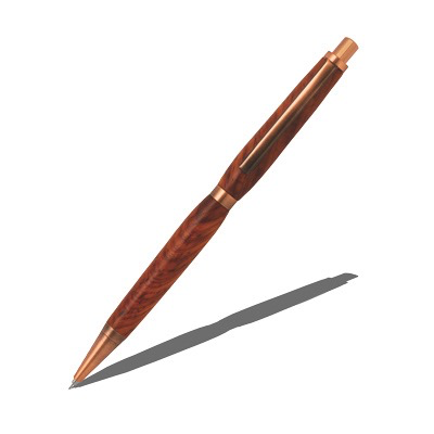 ANTIQUE COPPER SLIMLINE PENCIL 7mm-pkm-bush3