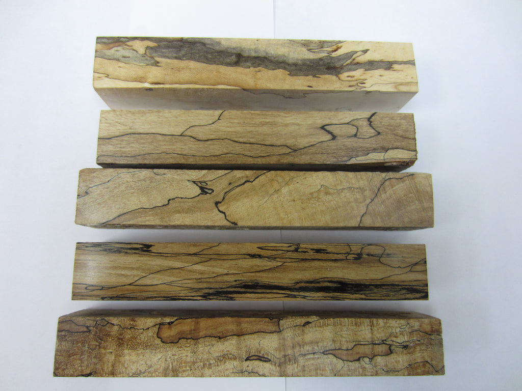 "Stabilized Wood 5 Spalted Maple Pen Blanks 7/8""x7/8""X5 3/4"""