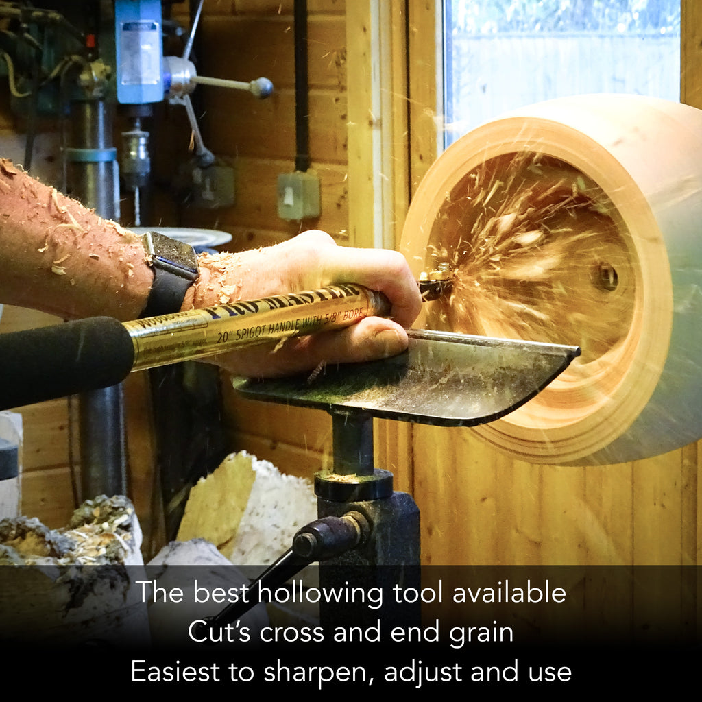 Woodcut- Pro-Form Hollowing kit 3 - (Handle, Straight, & Bent  & slight bent shaft )
