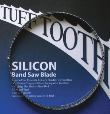 "98 1/2"" x 3/8"" x 3TPI - Swedish Silicon Steel Bandsaw Blade"